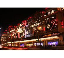 Christmas shopping Photographic Print