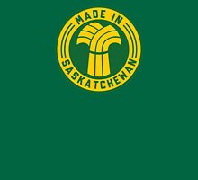 Made in Saskatchewan Logo (Gold & Green) Unisex T-Shirt