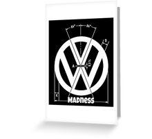 VW Logo Specicication Greeting Card