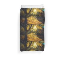 The Last Weekend of Calming Yellow Autumn Duvet Cover