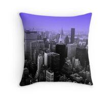 NY - Feeling Blue Throw Pillow