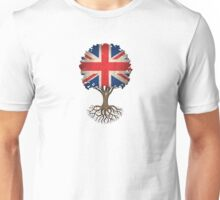 Tree of Life with British Flag Unisex T-Shirt
