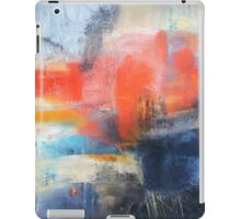 Blue Red Abstract  iPad Case/Skin