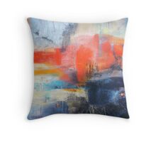 Blue Red Abstract  Throw Pillow