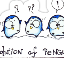 Evolution Of Penguin - PenguiNation Sticker