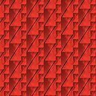 Geometric Red Blocks Duvet Cover by Scott Mitchell