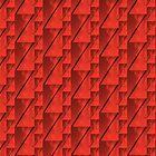 Geometric Red Blocks Duvet Cover by Scott Mitchell