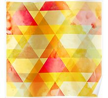 Fab Yellow & Red Triangle Geometric Design Poster