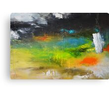 Green Abstract Art  Canvas Print