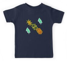 Winter is coming pattern on navy blue Kids Tee