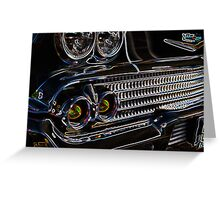 Cruise-in Fusion Chrome & Lights Greeting Card