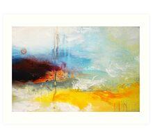 Yellow Blue Abstract Art Print Art Print