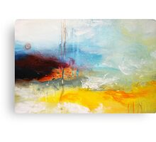 Yellow Blue Abstract Art Print Canvas Print