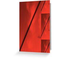 Geometric Red Blocks Duvet Cover Greeting Card