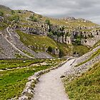 The Approach to Malham Cove by Colin Metcalf