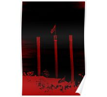 Bend Oregon in Black and Red (USA flag) Poster