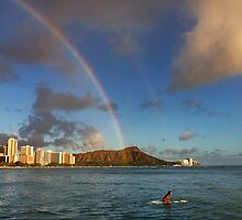 Rainbow over Diamond Head by Alex Preiss