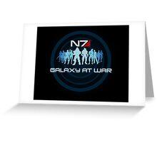 Mass Effect - Galaxy At War Greeting Card