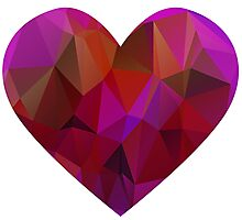 Geometric Valentine's Day Heart Photographic Print