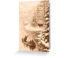Winter Hunting Greeting Card