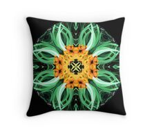 eucalyptus flower mandala Throw Pillow