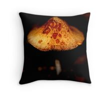 Mushroom in the dark Throw Pillow