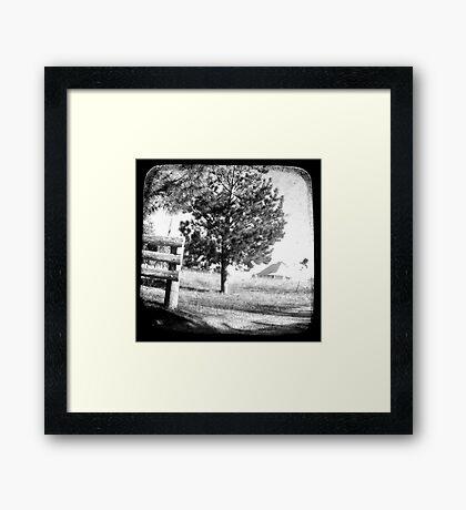 The Old Farmhouse Framed Print
