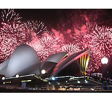 Sydney Opera House up in Lights Photographic Print