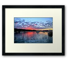 Fire in the Sky - Newport - Sydney Beaches - The HDR Series Framed Print