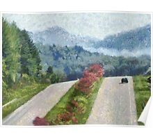 Ride On Into Franklin On The Merle Dryman Parkway Poster