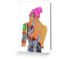 Cybergirl vibrant  Greeting Card