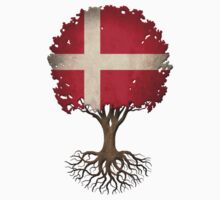Tree of Life with Danish Flag One Piece - Long Sleeve