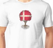 Tree of Life with Danish Flag Unisex T-Shirt