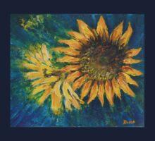 Sunflower Study (acrylic) Kids Tee