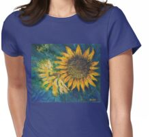 Sunflower Study (acrylic) Womens Fitted T-Shirt
