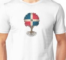 Tree of Life with Dominican Republic Flag Unisex T-Shirt