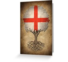 Tree of Life with English Flag Greeting Card