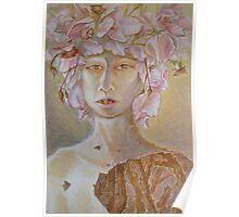 Rosewoman - Portrait In Crayon With Thorns For Teeth Poster