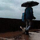 Walking in the rain by Lozzle