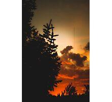 Sunset in Washington state Photographic Print