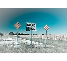 Route 66 - End of the Road! Route 66 Photographic Print