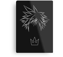 Minimal Sora from Kingdom Hearts Metal Print