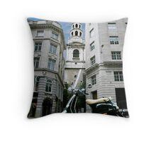 St. Bride's Church, Fleet Street Throw Pillow