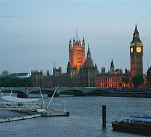 London At Dusk... by Brad Myers