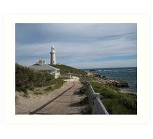 Lighthouse and Keeper's cottage Art Print