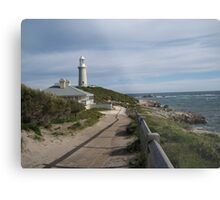 Lighthouse and Keeper's cottage Metal Print