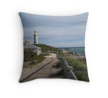 Lighthouse and Keeper's cottage Throw Pillow