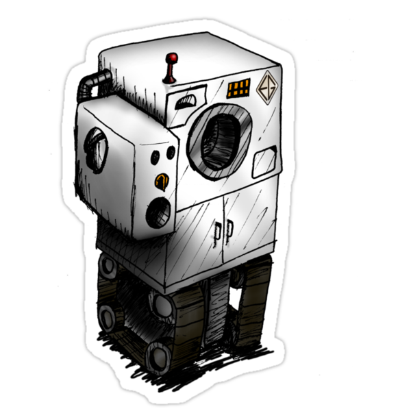 Evil Robot #291 - The Laundromatinator by Michael Alesich