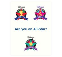 All Star Resorts Art Print