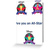 All Star Resorts Greeting Card